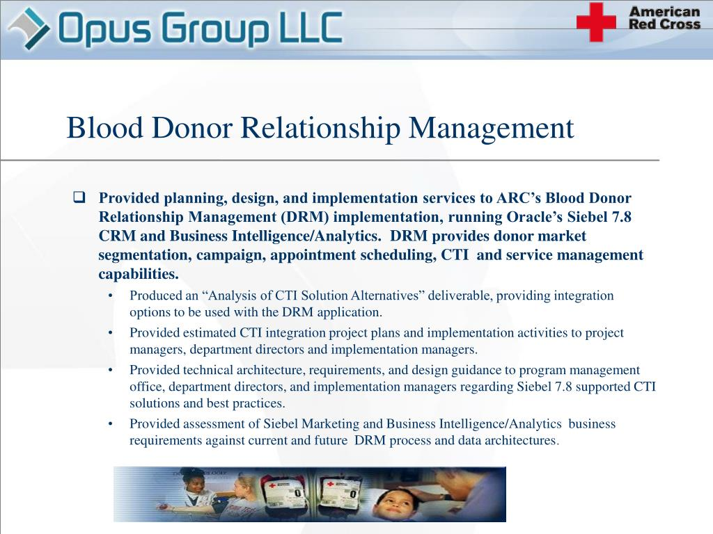 Blood Donor Relationship Management