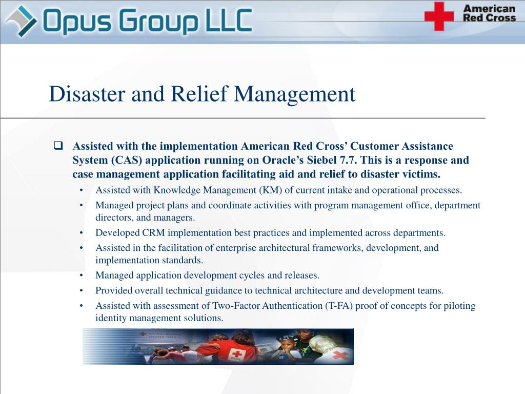 Disaster and Relief Management