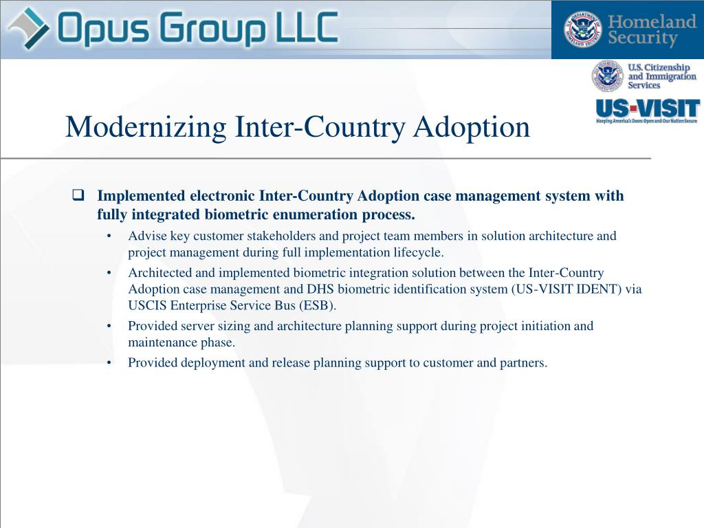 Modernizing Inter-Country Adoption