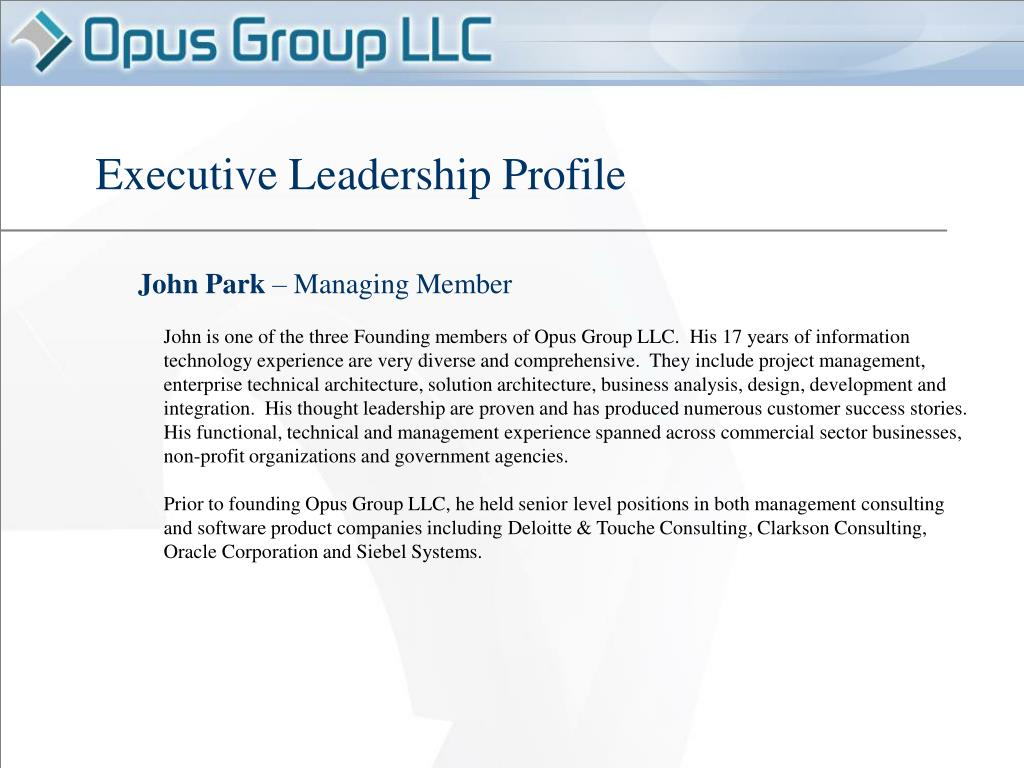 Executive Leadership Profile