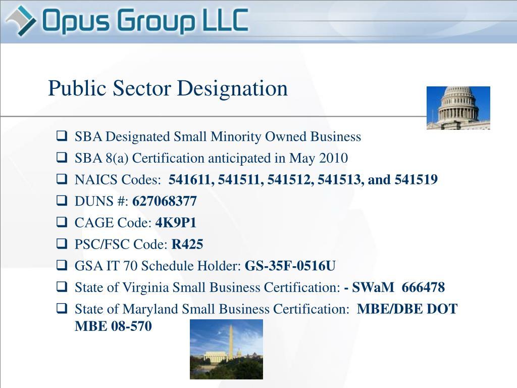 Public Sector Designation