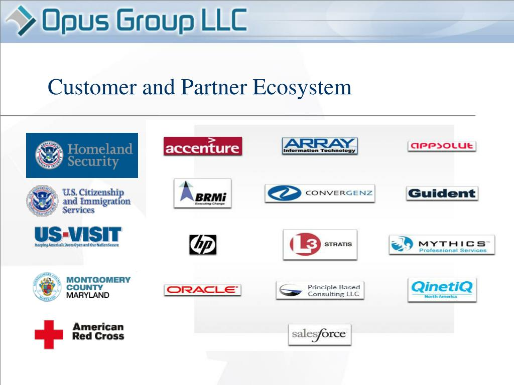 Customer and Partner Ecosystem