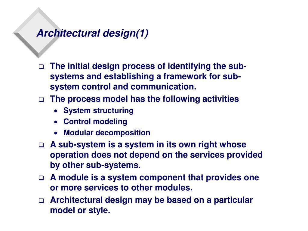 Architectural design(1)