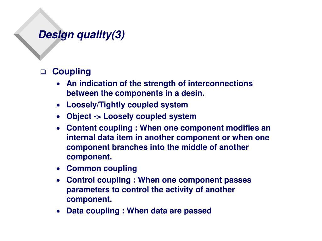 Design quality(3)