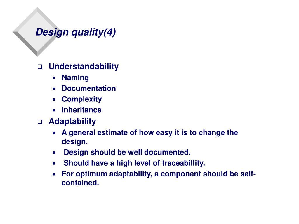 Design quality(4)