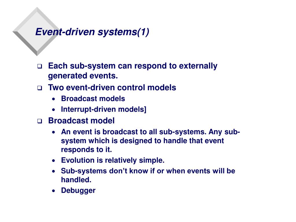 Event-driven systems(1)