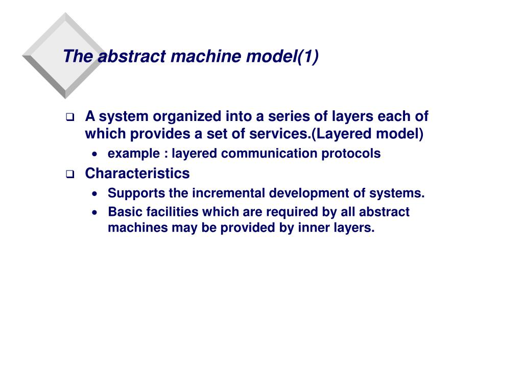 The abstract machine model(1)