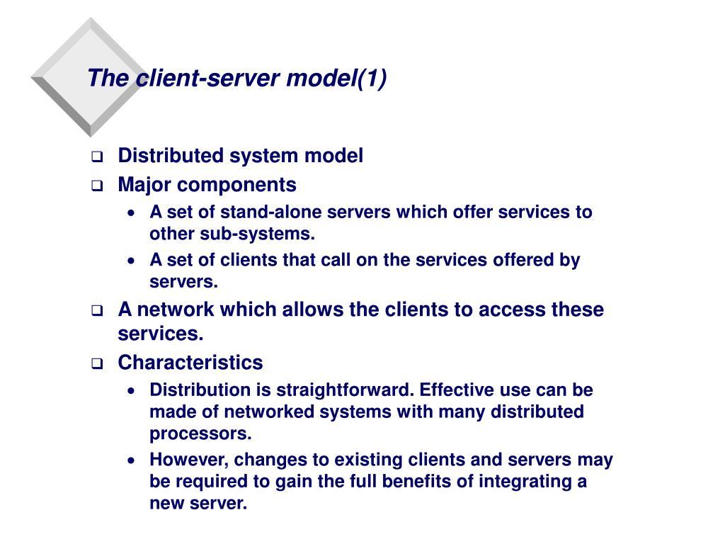 The client-server model(1)