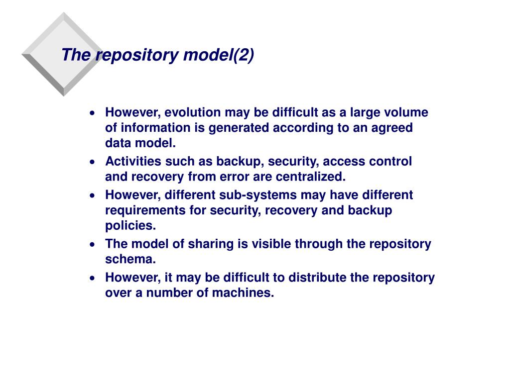 The repository model(2)