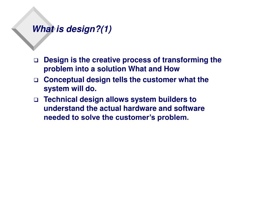What is design?(1)