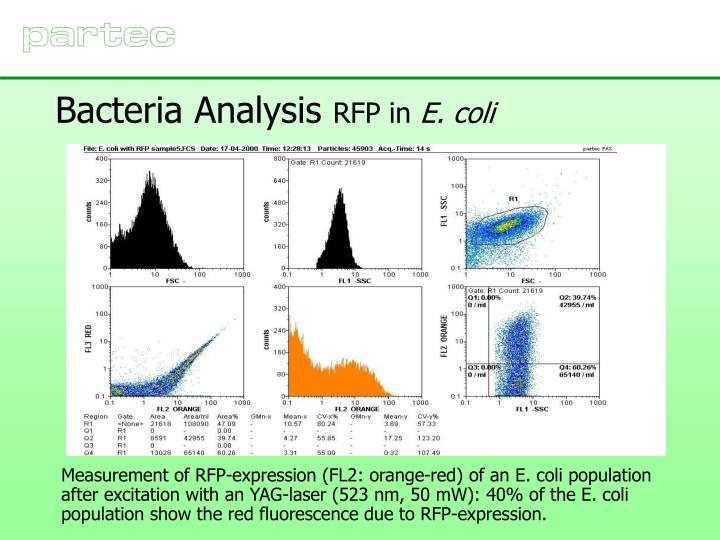 Bacteria Analysis