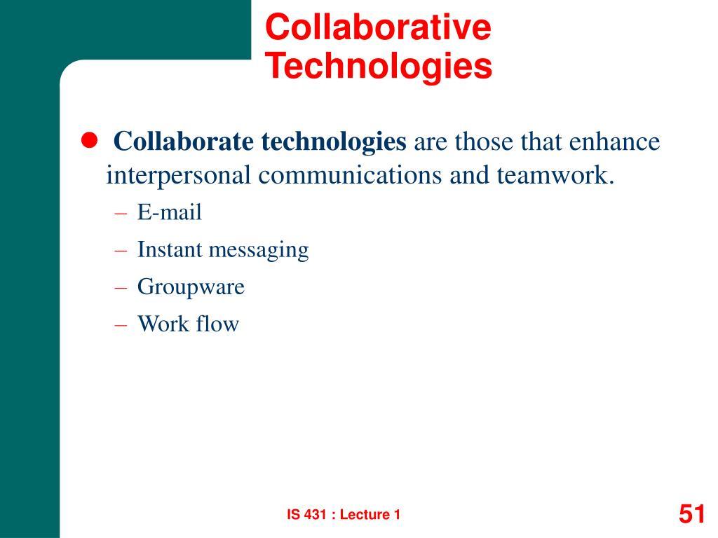 Collaborative Technologies