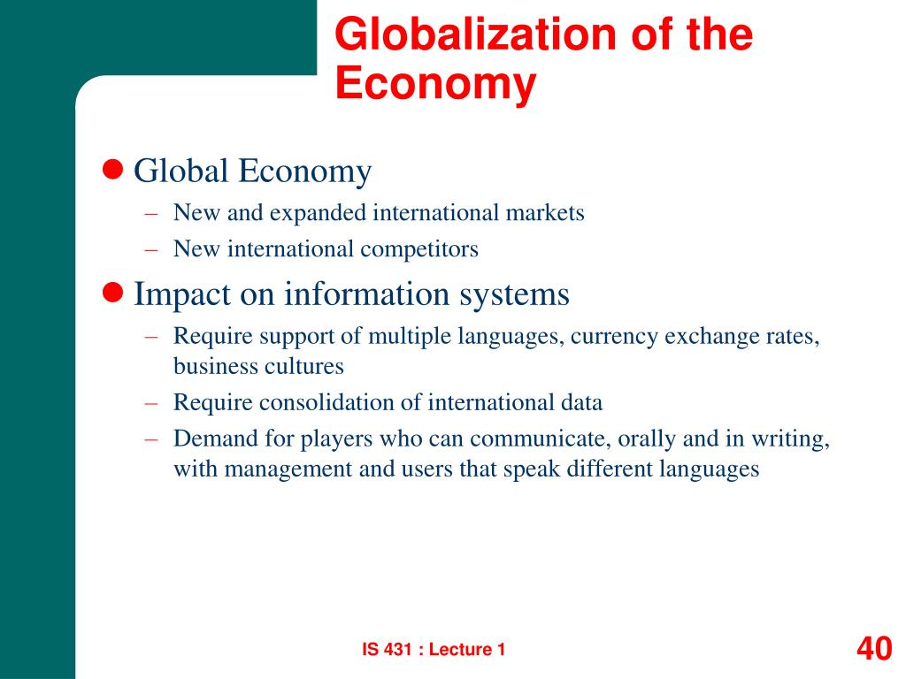 Globalization of the Economy