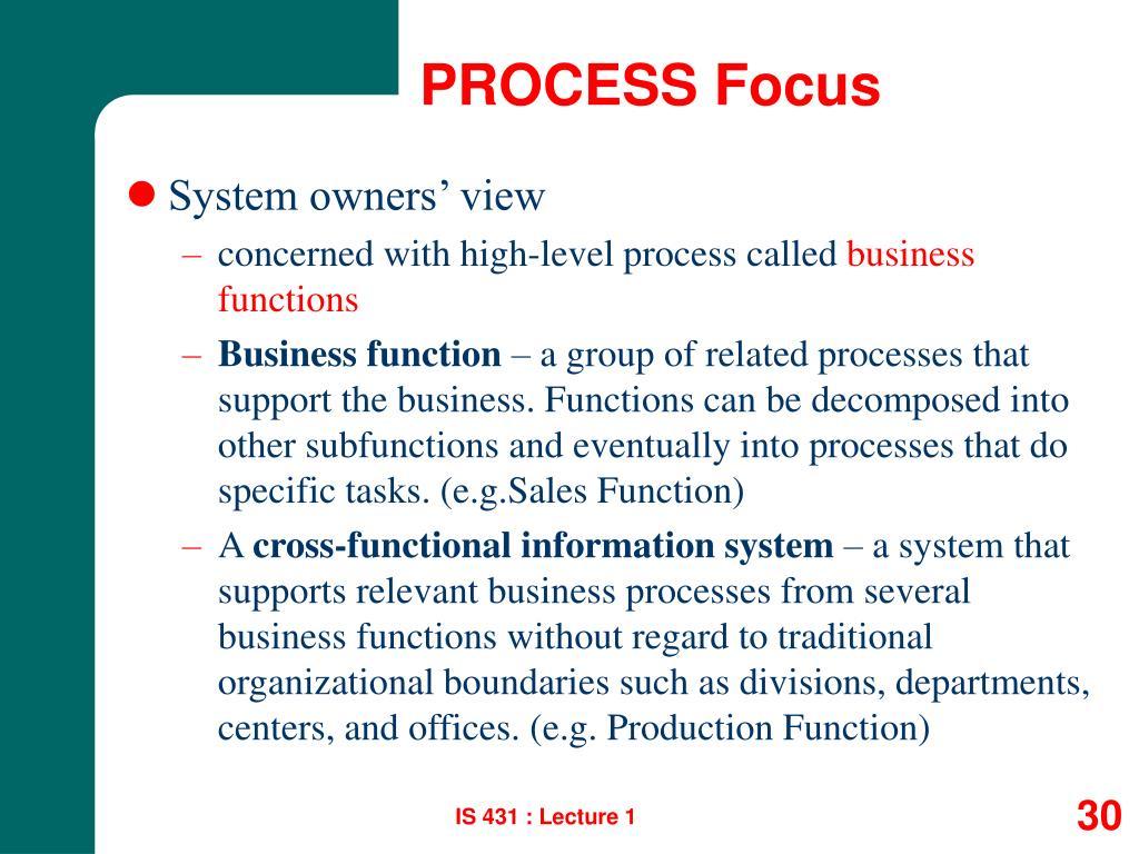 PROCESS Focus