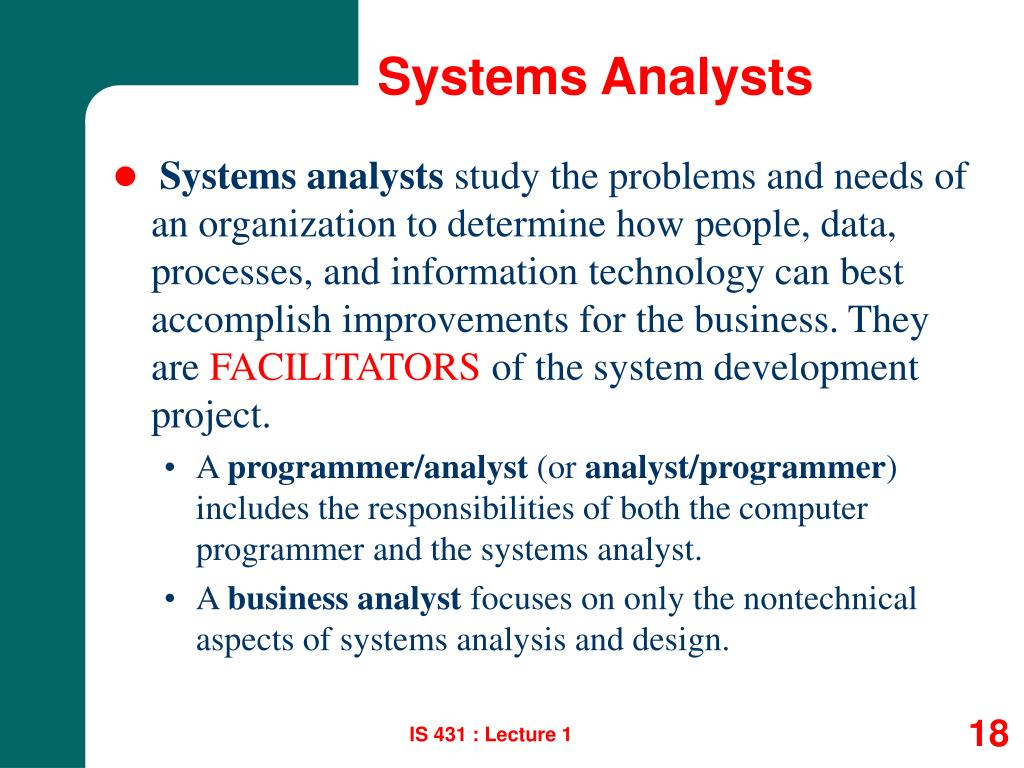 Systems Analysts