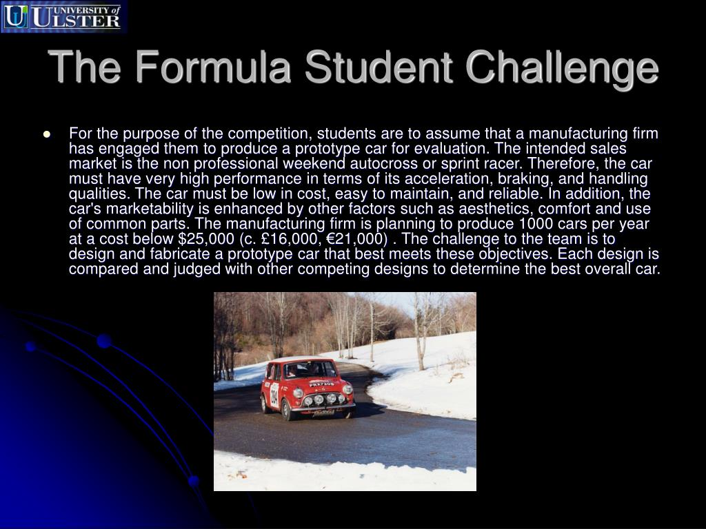 The Formula Student Challenge