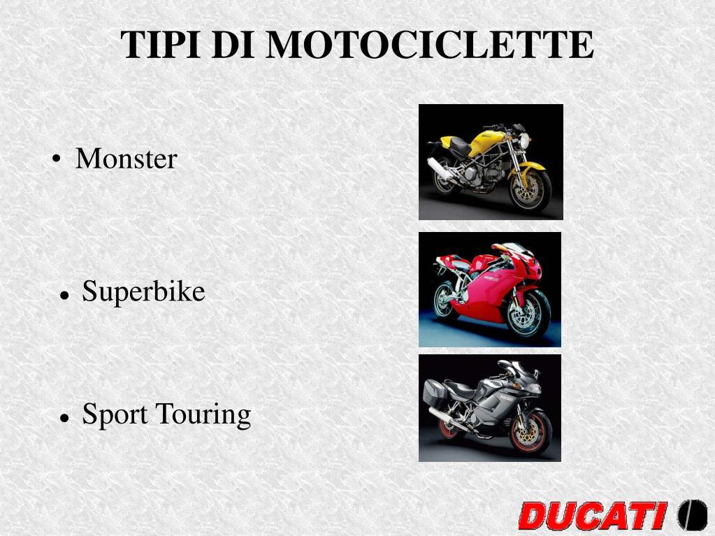 TIPI DI MOTOCICLETTE