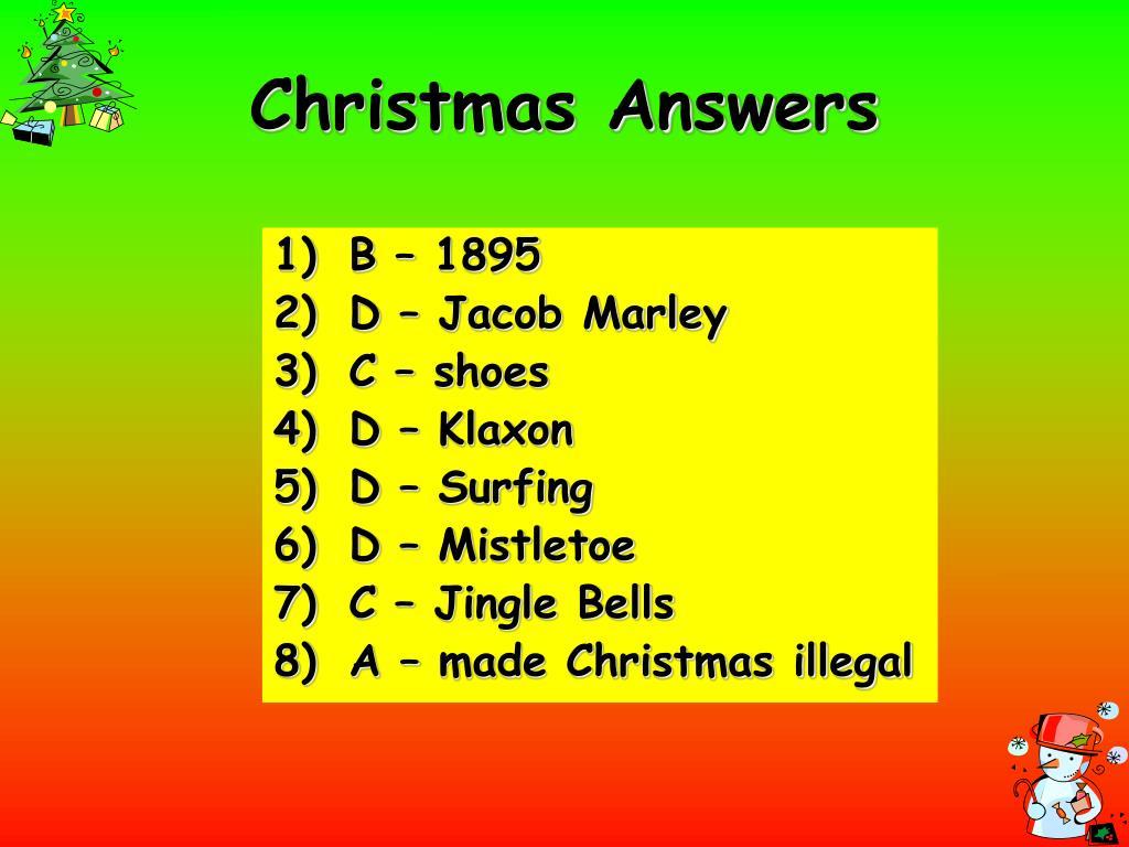 Christmas Answers