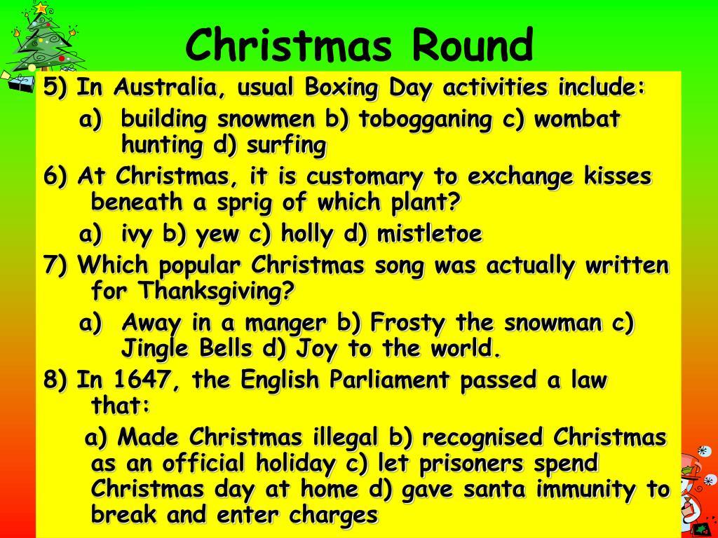 Christmas Round