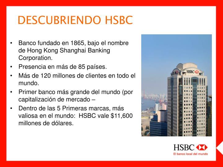 DESCUBRIENDO HSBC