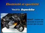 electricit et sportivit