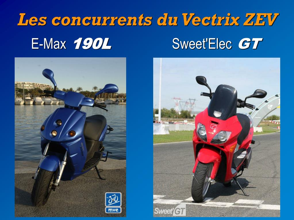 Les concurrents du Vectrix ZEV