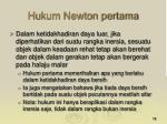 hukum newton pertama