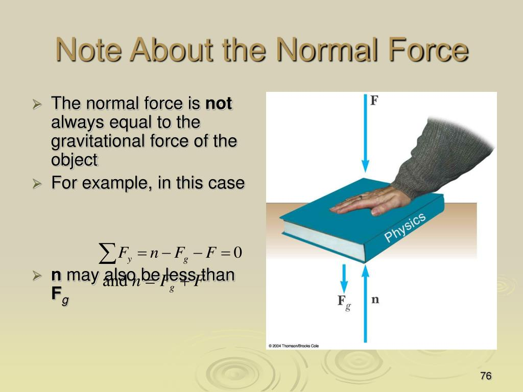 Note About the Normal Force
