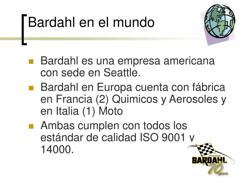 Bardahl en el mundo