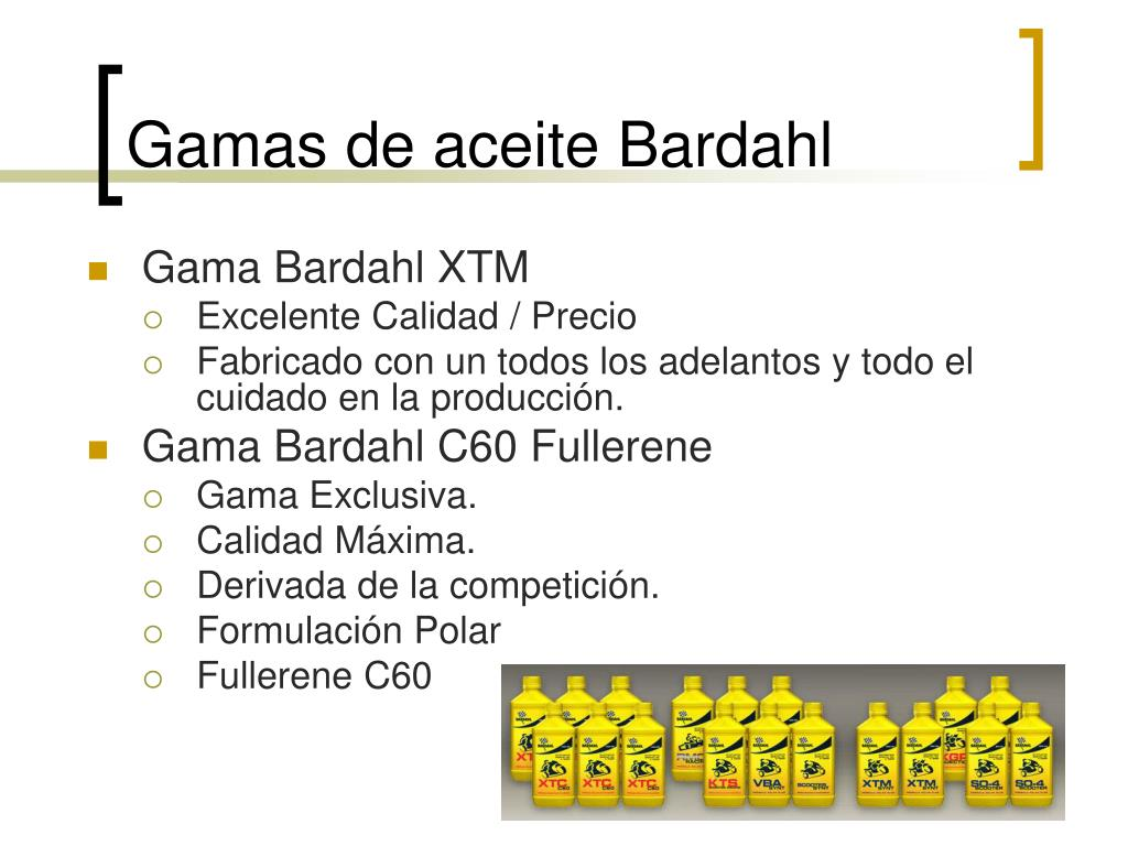 Gamas de aceite Bardahl
