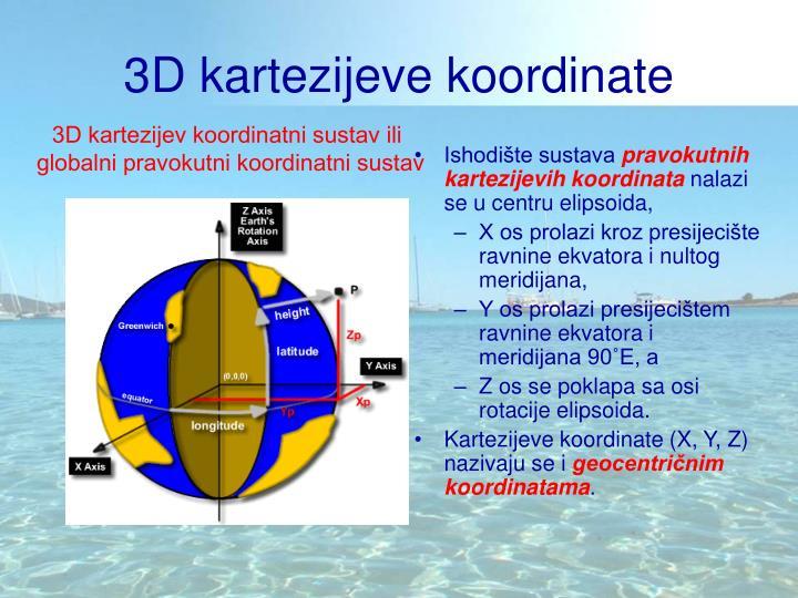 3D kartezijeve koordinate