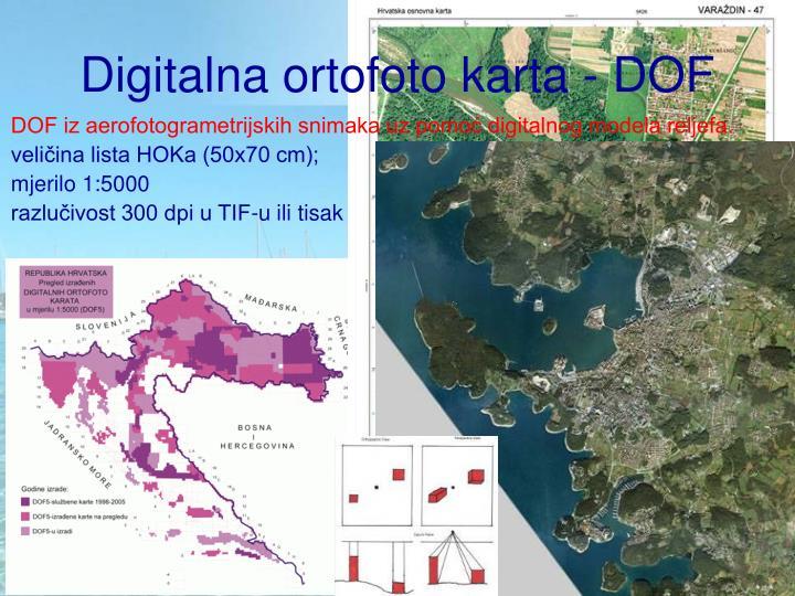 Digitalna ortofoto karta - DOF