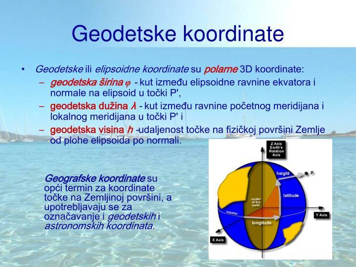 Geodetske koordinate
