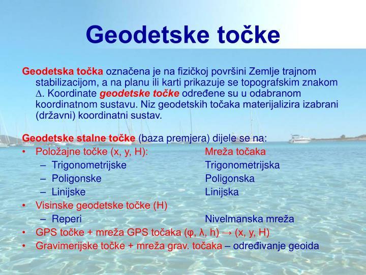 Geodetske točke