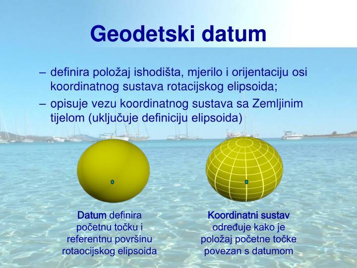 Geodetski datum