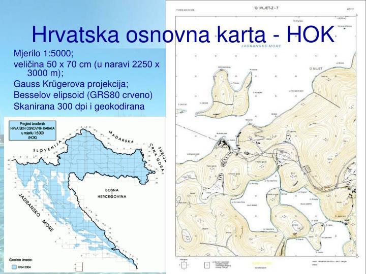 Hrvatska osnovna karta - HOK