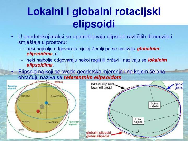 Lokalni i globalni rotacijski elipsoidi