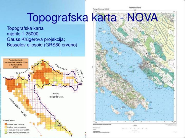 Topografska karta - NOVA
