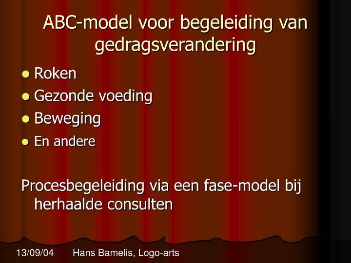 ABC-model voor begeleiding van gedragsverandering