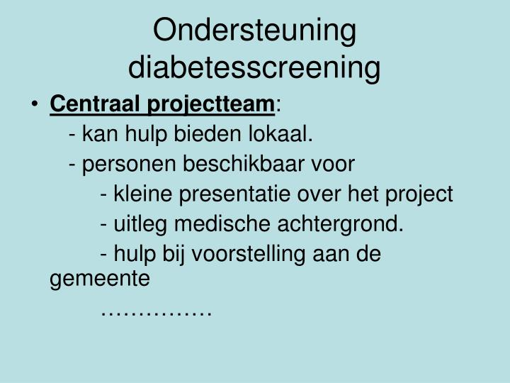 Ondersteuning diabetesscreening
