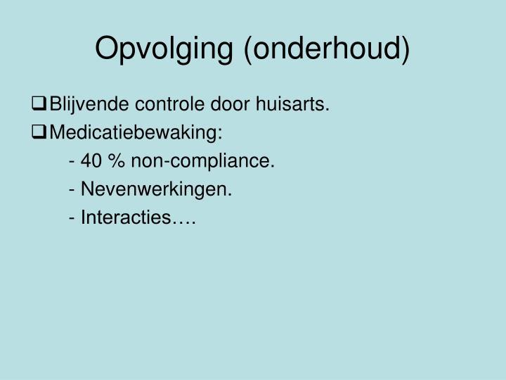 Opvolging (onderhoud)