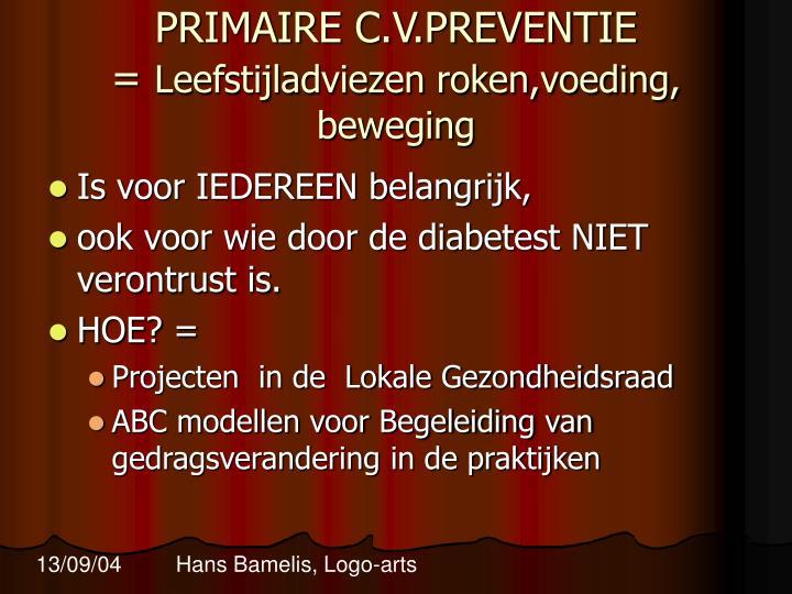 PRIMAIRE C.V.PREVENTIE