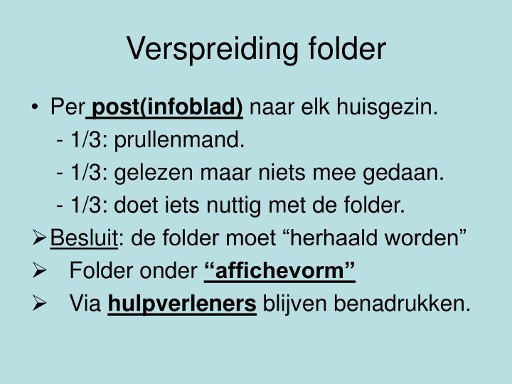 Verspreiding folder