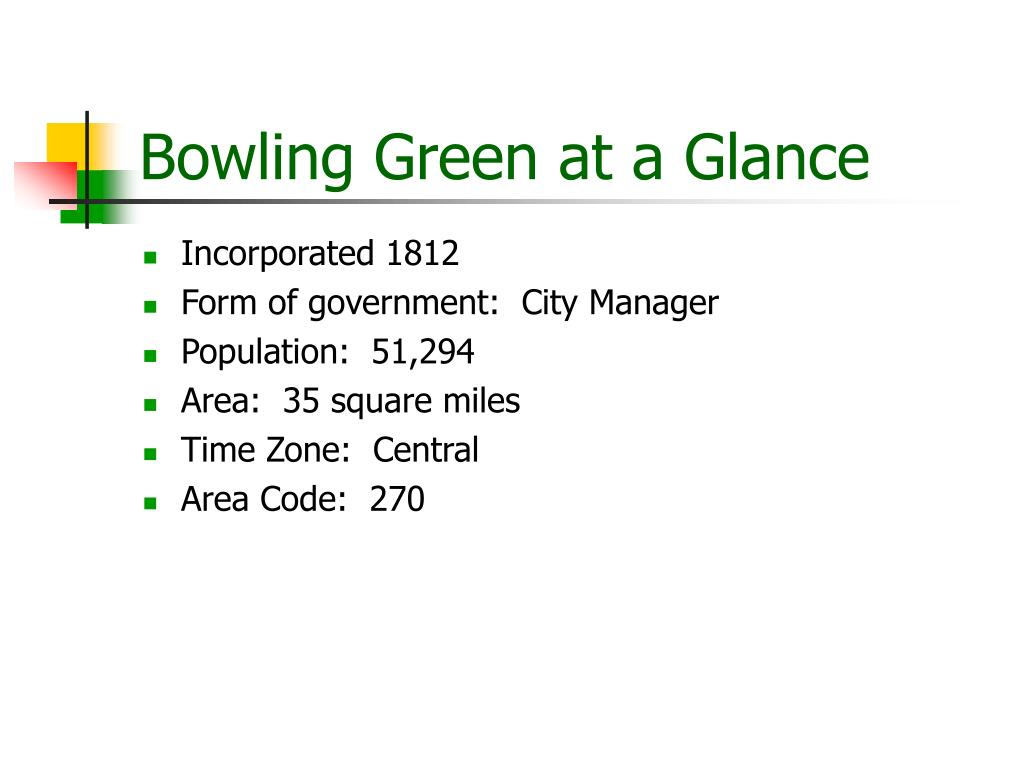 Bowling Green at a Glance