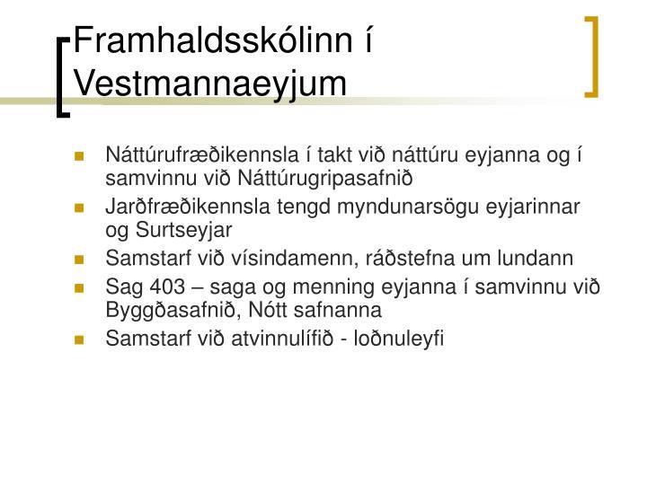 Framhaldsskólinn í Vestmannaeyjum