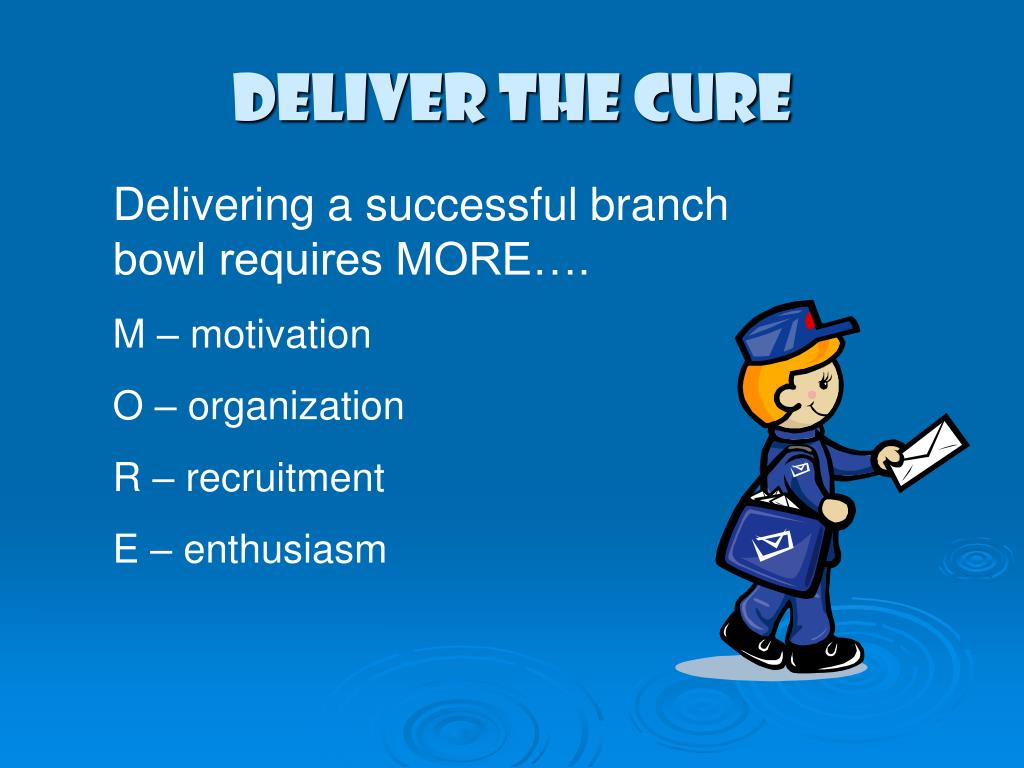 DELIVER THE CURE