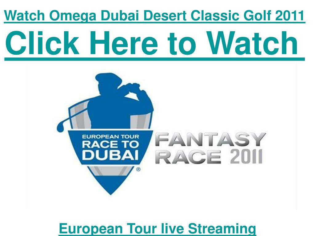 Watch Omega Dubai Desert Classic Golf 2011