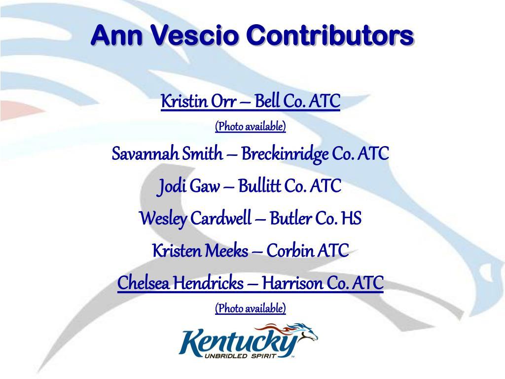 Ann Vescio Contributors