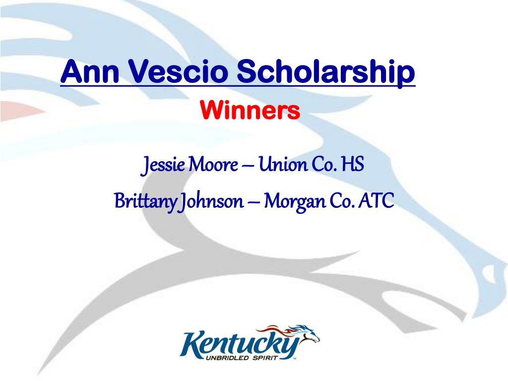 Ann Vescio Scholarship