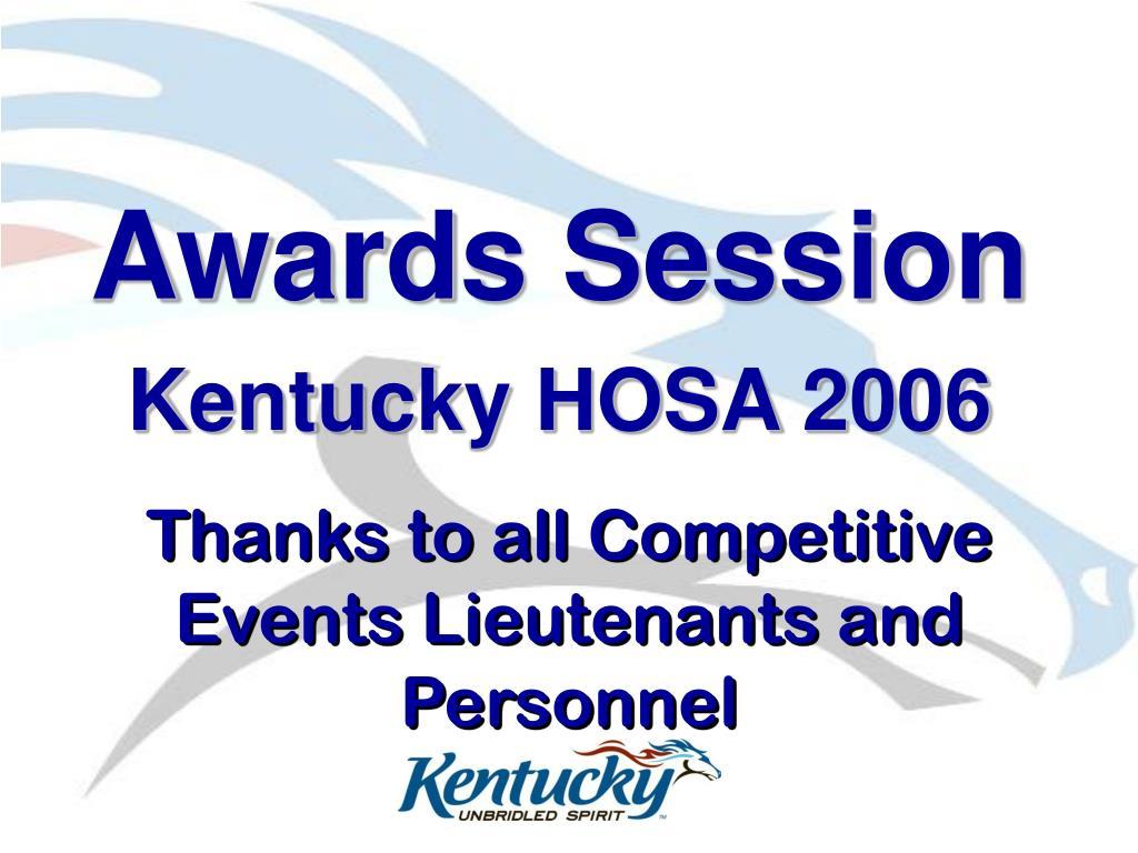 Awards Session